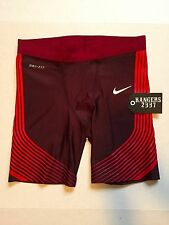 Nike Power Speed Running Half Tights Shorts 822556-677 Crimson Men's Size L.