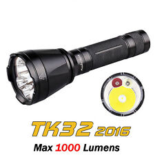 Fenix TK32 2016 Cree XP-L HI V3 LED + Red Green LED Tactical Flashlight Torch