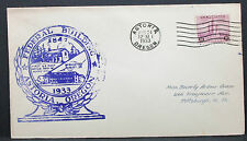 Us Illustrated ADV Cover Astoria Federal Building stamp 3c 1933 usa lettre h-7573