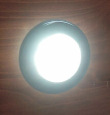MARINE BOAT RV  FLUSH MOUNT LED WARM WHITE ROUND COURTESY LIGHT IP67 WATERPROOF