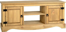 Corona 2 Door 1 Shelf flat Screen Tv Unit  Mexican Pine
