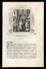 santino incisione 1800 S.ROMUALDO AB. DI CAMALDOLI