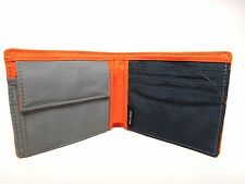 Jack Spade Orange Nylon Bifold Wallet and Bill Holder with Coin Pouch - NWOT