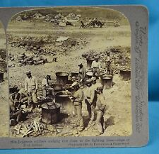Stereoview Photo Russo-Japanese War Field Kitchen Rice Port Arthur China 中国
