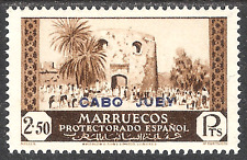 SPANISH MOROCCO MARRUECOS OVERPRINTED CABO CAPE JUBY 1933 / 1935 2,5 Ptas 75 MLH