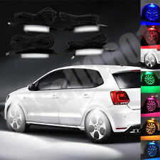 4x White LED Car Wheel-Well Neon Glow Lights Fender Lamp Strobe Breathing 3 Mode