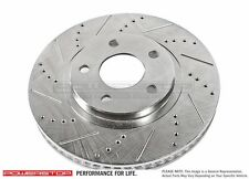 New Power Stop Driver Front Disc Brake Rotor Cross Drilled Slotted Tahoe Yukon