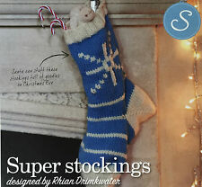 KNITTING PATTERN Snowflake & Christmas Tree Motif Stocking 2 Designs PATTERN