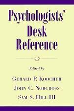 Psychologists' Desk Reference-ExLibrary