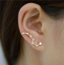 Elegant Fashion Womens Sweet Rhinestone Crystal Big Dipper Earrings Ear Studs TS