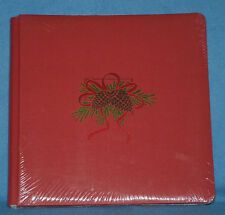 Creative Memories 12 x 12 Red Album Pine Cone Trim 15 Sheets / 30 Pages NEW