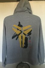 RARE Nike Kobe Black Mamba Chinese Gold Logo Hoodie  XL LA LAKERS Embroidered