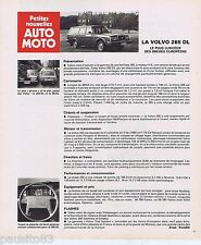 PUBLICITE ADVERTISING 095 1976 La Volvo 265 DL
