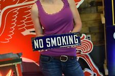 PORCELAIN NO SMOKING SIGN OIL GAS STATION clean Factory Salvage sign VERY EARLY
