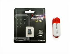 Genuine 16 GB Kingston UltimateX Micro SD HC Class 10 plus Card reader, 8GB 32GB