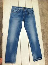 7 For All Mankind The Girlfriend Relaxed Skinny Jeans Blue 28 MINT CONDITION
