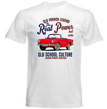 VINTAGE FRENCH CAR RENAULT CARAVELLE REAL POWER - NEW COTTON T-SHIRT