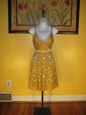 NWT Arden B. $148 Gold Dot Silk Blend Dress Size XS