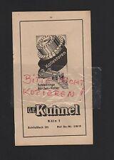 KÖLN, Werbung 1942, G. E. Kuhnel Schleifringe