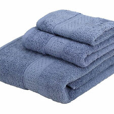 NEW 3 Piece 100% Cotton 500 Gram Bath Towel Towels Set - 12 colors