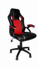RACING SPORT BUCKET COMPUTER DESK GAMING OFFICE CHAIR SEAT FAUX LEATHER MESH