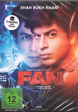 SHAH RUKH KHAN: FAN - Original Bollywood Film DVD - Erstauflage mit Poster!