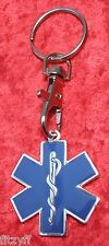 Star of Life Keyring Medical Symbol Key Ring Caduceus Ambulance Paramedic Gift