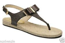Michael Kors Sandals MK Meg Thong Flat Sandals Brown Size 7 Agsbeagle #BigRush