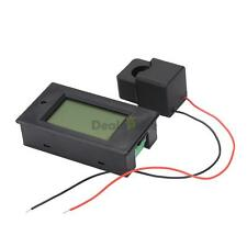 AC 100A Digital Ammeter Voltmeter Power Meter Open-close current transformer