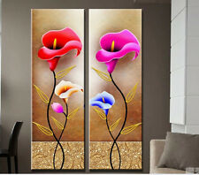 GUDI-2P Hand-painted oil painting Modern Art Wall Decor On Canvas Calla Unframed
