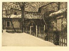 LEIPZIG Johannisfriedhof Grabmal Kätchen Schönkopf - Leistner - Radierung 1915
