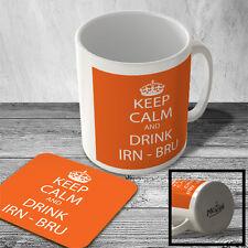 MAC_KC_081 Keep Calm and Drink Irn-Bru (orange) - Mug and Coaster set