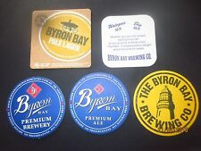 5 Different BYRON BAY Brewery,New South Wales BEER COASTERS Collectable