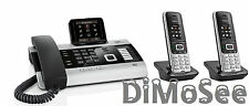"""►► Gigaset DX800A VoIP - ISDN - Analog """"All in one"""" + 2 Mobilteile S850HX ◄◄"""