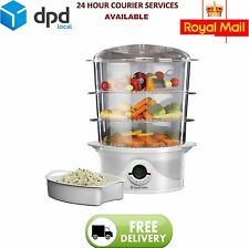 Russell Hobbs 21140 Three Tier 9L Food Rice Vegetable Egg Steamer 800W New