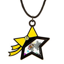 tokidoki Star with Floating Charms Pendant Necklace Neon Star Donutella Unicorni