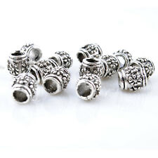 5pcs Flower Alloy Silver Plated Charm Spacer beads Fit European Bracelets