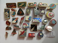 30 set lot SOVIET RUSSIAN BADGE PIN medal USSR SPACE INTERKOSMOS NASA GAGARIN
