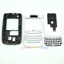 FULL HOUSING COVER + FRAME + KEYPAD FOR BLACKBERRY CURVE 9360 #WHITE