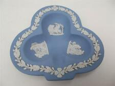 Wedgwood Blue Jasper Ware Club Shape Trinket Dish - Ashtray Tray (ref W5)