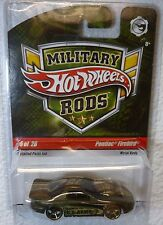 HTF 2009 MILITARY RODS HOT WHEELS PONTIAC FIREBIRD #5 /26 In Protector!