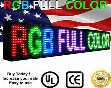 "LED  Fullcolor Sign P10, 6"" x 50"" programmable Scrolling INDOOR VIDEO Message"