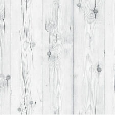 White Wash Wood Effect Self Adhesive Wallpaper Roll Plank Boards Wallcovering