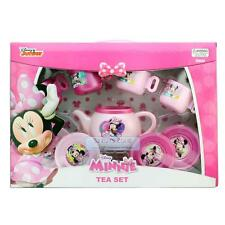 Disney Junior Minnie Mouse Tea Set 9pcs Teapot Cup Plate Pretend Role Play Toy