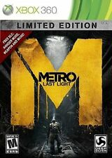 Metro: Last Light-Limited Edition  (Xbox 360, 2013)-Comes with tracking and prot