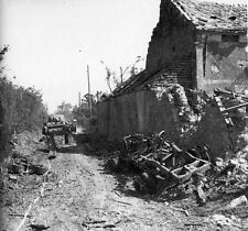 6x4 Gloss Photo ww405 Normandy Calvados Villiers Bocage 1944