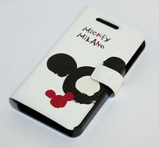 For iPHONE 4 4S -DISNEY MICKEY MOUSE LEATHER POUCH HOLSTER SKIN CASE COVER BLACK