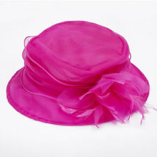 Janeojewels Formal Fascinator Headwear Hat, Mushroom Dish Style, Organza Chiffon