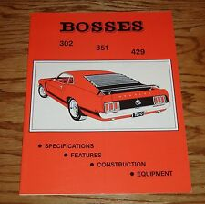 1969 1970 1971 Ford Mustang Boss Illustrated Facts Specifications Manual