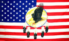 5' x 3' Dreamcatcher Flag USA Feather and Eagle US American America Banner